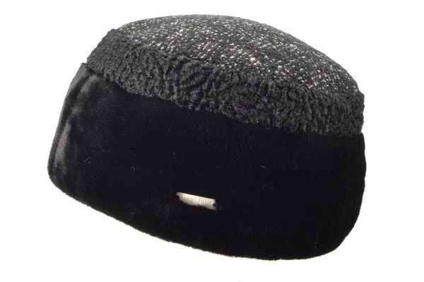 108f495379f SEEBERGER women cut and sewn hat »toque 17381-0« black Orig online ...