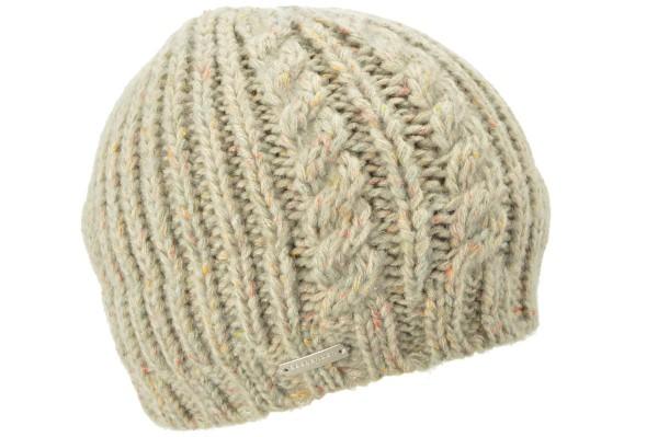 8d714e550cd SEEBERGER women knit headwear »Beanie 17362-0« sand Orig online ...