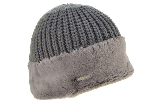 6d54f45474c SEEBERGER women knit headwear »Beanie 17625-0« taupe Orig online ...