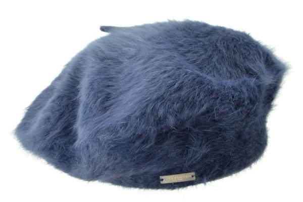 93cb200e90e SEEBERGER women knit headwear »angora beret 15200-0« ink blue Orig ...
