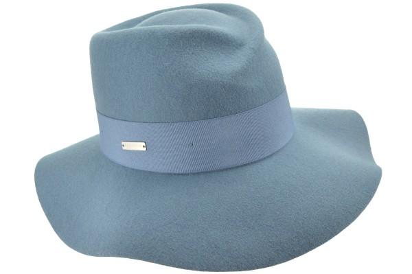905deb2e66cd3 SEEBERGER women felt hat »woolfelt fedora 16194-0« jeans blue Orig ...