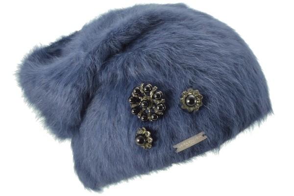 d897de9e5e1 SEEBERGER women knit headwear »Angora Headsock« ink blue Orig online ...