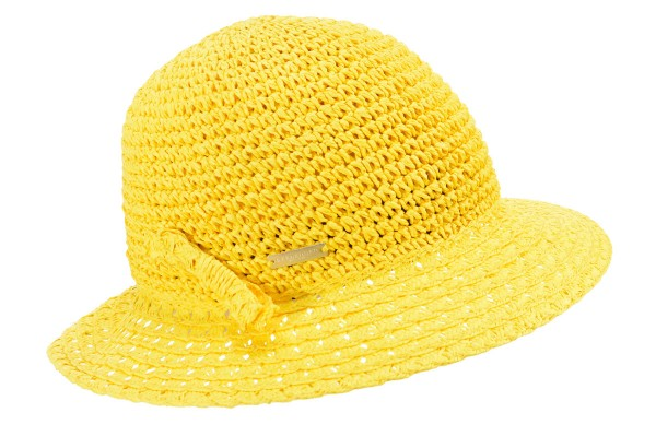 29bf84c4 SEEBERGER women straw hat »Paper crochet cloche« honey Orig online ...