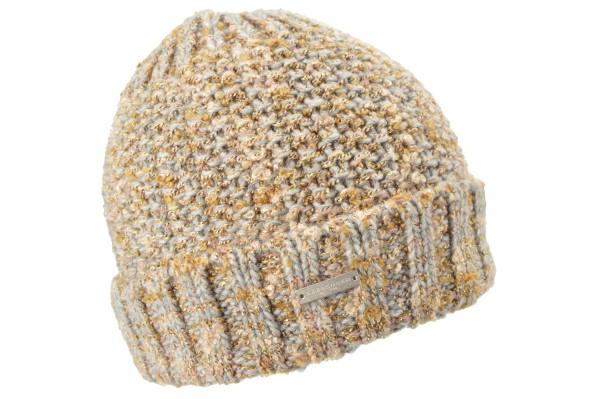 9fa6a5f766f SEEBERGER women knit headwear »Beanie« smoke grey online kaufen bei  SEEBERGER HATS
