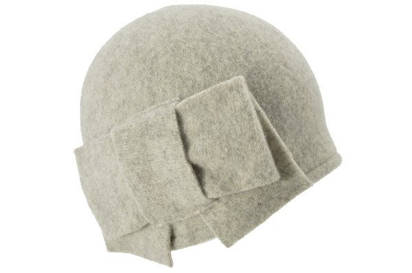 88c2d80edc7 SEEBERGER women boiled wool headwear boiled wool beanie 11057-0 light grey  Orig