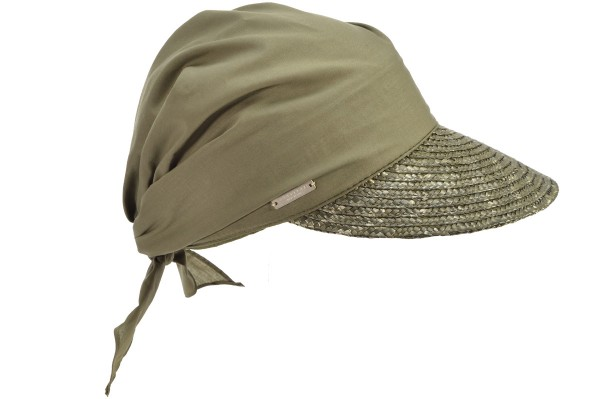 SEEBERGER women straw cap »cap in straw braid« olive Orig online ... fb338cc6f07e